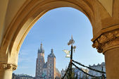 Old Town square in Krakow, Poland — Stock Photo