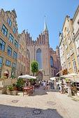 Mariacka Street in Gdansk — Stock Photo