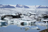 Icebergs in Jokulsarlon ice lagoon. — Stock Photo
