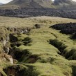 Krafla volcanic rifts, Iceland. — Stock Photo