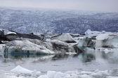 Caos di ghiaccio, islanda. — Foto Stock
