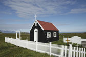 Small chapel in Iceland. — 图库照片