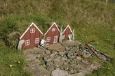 Small toy elf house in Iceland. — Stock fotografie