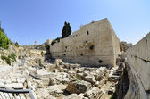 Excavations near Western Wall in Jerusalem, — Stock Photo
