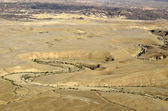 Ramon crater landscape in Negev desert. — Stock Photo