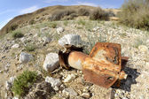 Old exploded rocket shell — Stock Photo