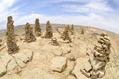 Summit Ido cairns in Negev desert. — Stock Photo