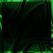 暗い緑色の絹 — ストック写真