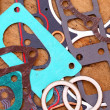 Gaskets for engine repair — Stock Photo