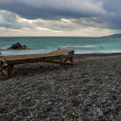 Lounger on the beach — Stock Photo