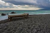 Espreguiçadeira na praia — Fotografia Stock