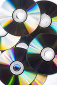 Many CD's isolated on the white background — ストック写真