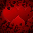 Red valentines day background for input text — Stock Photo