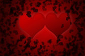 Red valentines day background for input text — Foto de Stock