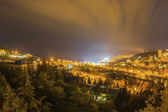 Night bright yalta city yellow light — Stock Photo
