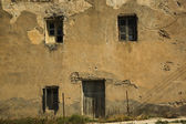 Windows of ancient house — Stock Photo