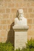 Pomnik st neophytos monastery opat. — Zdjęcie stockowe