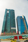 Skyscrapers on Sheikh Zaied road in Dubai — Stock Photo