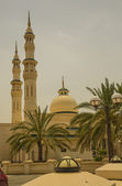 Mosque with palms — Stock Photo
