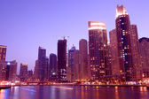 Night view of Dubai marina. — Stock Photo