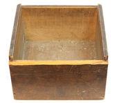Oude lege houten doos — Stockfoto