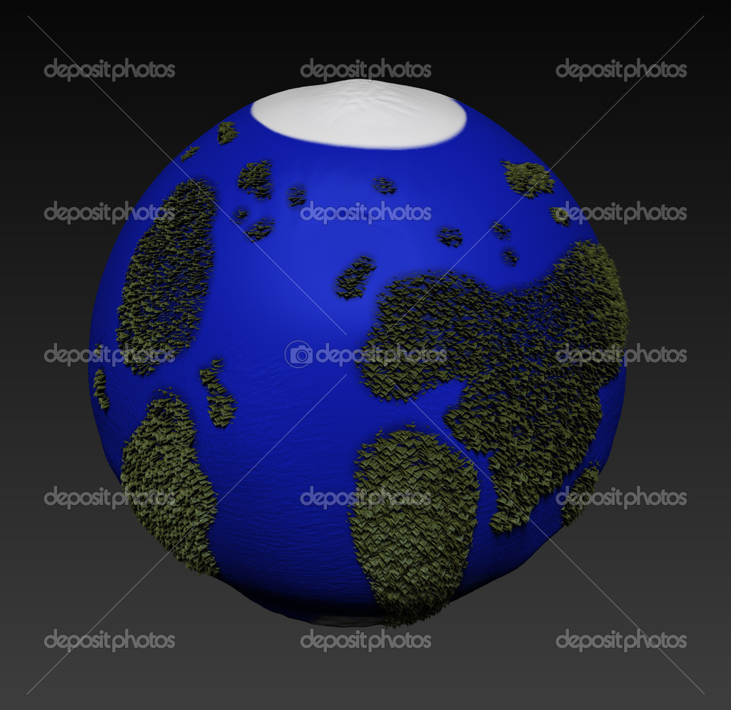 New world 3d — Stock Photo #14021190