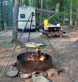Campsite Meal — Stock Photo