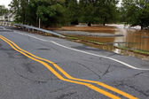 Flood Damaged Roadway — Foto Stock