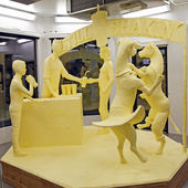 Butter Sculpture — Stock Photo