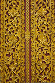 Close up Thai carved doors — Stock Photo