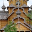 Stock Photo: Man's monastery. Monastic village completely constructed of tree.