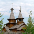 Man's monastery. Monastic village completely constructed of a tree. — Stock Photo #30462825