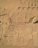 Egyptian images and hieroglyphs engraved on stone — Стоковое фото