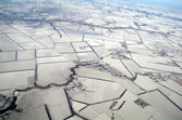 Winter aerial view,Ukraine. — Stock Photo