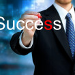 Young business man writing the word Success — Foto Stock