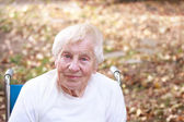Happy senior lady — Stock Photo