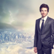 Young businessman smiling — Stock Photo