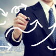 Stockfoto: Business Man Drawing Arrows