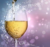 Wine Glass with White Wine — Stock Photo