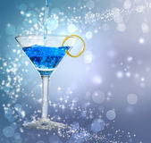 Blue cocktail — Stock Photo