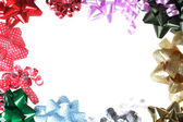 Gift Bow Border with White Background — Stock Photo