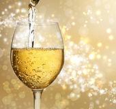 Wine Glass with White Wine — Stock Photo