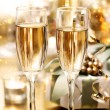 Stock Photo: Shining Champagne Glasses (celebration)