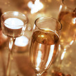 Sparkling Champagne Glasses (celebration) — Stock Photo
