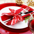 Decorated Christmas Dinner Table — ストック写真