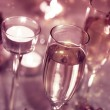 Stock Photo: Sparkling Champagne Glasses (celebration)
