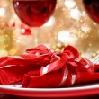 Decorated Christmas Dinner Table — Stok Fotoğraf #15636909