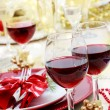 Holiday Red Wine — Stockfoto