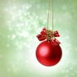 Christmas red ornaments — Stock Photo #15854801