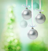 Christmas snowflake ornaments — Stock Photo